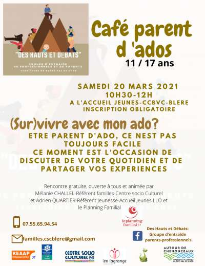 Café parents d'ados 11/17 ans